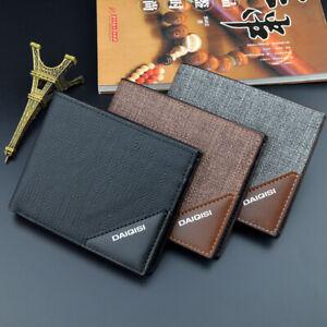 Men's Leather Wallet ID Credit Card Holder Clutch Coin Zip Bifold Money Purse
