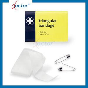 2 Teli triangolari per immobilizzazione in TNT con spille - telo triangolare