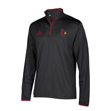Louisville Cardinals NCAA Adidas Men's 2018 Sideline Black Long Sleeve Knit
