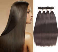 8A Dark Brown Color2 Straight 100% Brazilian Human Hair Weaves Remy Hair Bundles