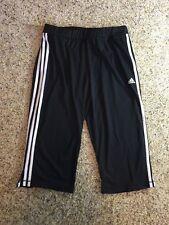 Adidas Women's Capri Pants Black Size Medium Side Pockets Kd7