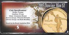 2005   DOLLAR COIN    - DANCING MAN  -  IN PLASTIC FLIP