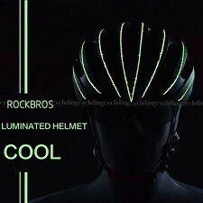 RockBros Luminated Helmet WT049 Unisex Road Bike MTB 57cm-62cm Black Green New