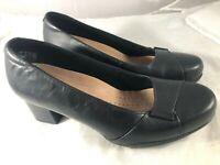 Clarks Artisan Womens Rosalyn Belle Dress Heel-Wide Black 7.5 W