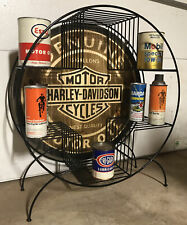Vintage Style Harley Motor Oil Can Display Rack Sign 5 Gallons Finest Quality