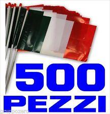 EUROPEI CALCIO bandiera ITALIA plastica 500 PEZZI asta cm 30 x 20 STADIO ULTRAS