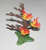 Playmobil Base Décor Végétation Arbre en Feu Fire Tree 12 cm NEW