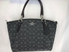 NWT COACH Small Kelsey Signature Black/Black Smoke Satchel Crossbody Bag F36625