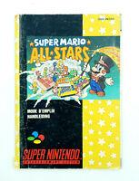 Notice jeu SNES Super Mario All Stars Super Nintendo Livret Instruction Manuel