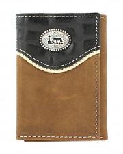 Nocona Western Mens Wallet Trifold Leather Cowboy Prayer Brown Black N5445844