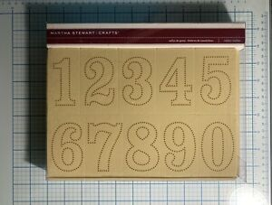 Martha Stewart Rubber Stamps Numbers Large Crafts Solid & Dotted NEW