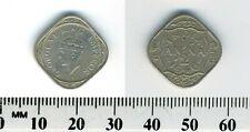 India - British 1946 - 1/2 Anna Copper-Nickel - George VI - 4-sided