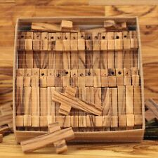 Lot of 50 Olive Wood Crosses of 3.6 cm in Paper Craft Gift Box Made in Jerusalem