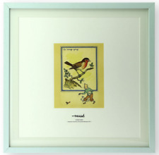 LITHOGRAPHIE TINTIN: LE ROUGE GORGE.CARTE POSTALE DIDACTIQUES. MOULINSART. NEUF