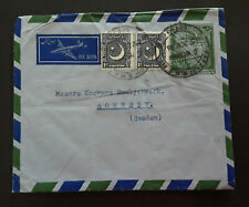 1953 Karachi Pakistan To Ronneby Sweden Air Mail Cover