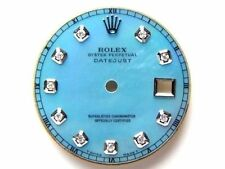 Rolex Men's Datejust S-S Ice Blue MOP Mother of Pearl Dial with Diamonds