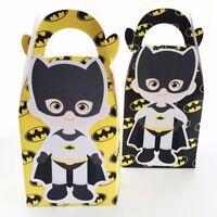 6x Batman Lolly Loot Bag Box Party Supplies Bunting Flag Favour Superhero Cake