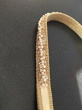 Tan CMG beaded dog collar