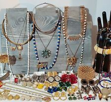 Large Estate Costume Jewelry Lot. Bracelets, Clip on Earrings, Designer, etc.