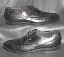 Bostonian black leather wing-tip oxfords lace-ups Men's shoes size 10 C