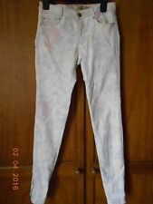 'ZARA'  ladies pastel floral skinny jeans UK SIZE 6 EX COND