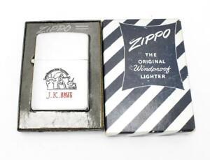 Vintage 1950 Zippo Lighter JK Smit & Sons Diamond Tools MIB NICE GRAPHICS