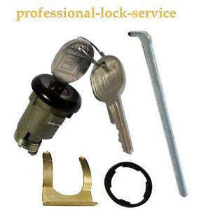 Chevy Nova Corvair 1967-1979 Trunk Boot Key Lock Cylinder Tumbler 2 Keys Black