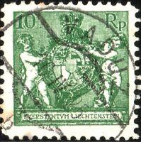 LIECHTENSTEIN - 1924 - Mi.63 - 10Rp dark emerald green - VF Used