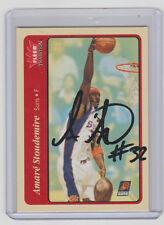 AMARE STOUDAMIRE Suns SIGNED 2004-05 Fleer Basketball 184 Autograph ON CARD AUTO