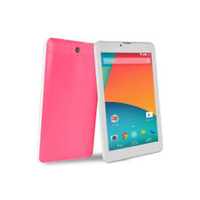 "7"" Touchscreen Tablet Android Quad Core 1.3GHz 512MB 8GB W/ Dual Cams BT - Pink"