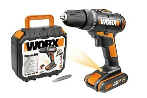 WORX 20V 10mm Drill Driver Kit , 35 pce accessories, 1 battery, charger, case