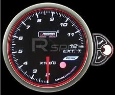Prosport 60mm Affumicato Motore Passo-Passo gas di scarico EGT temperatura BIANCO BLU AMBRA