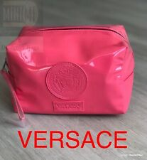 🆕💝VERSACE PINK PATENT COSMETIC POUCH WITH DUST BAG💝Brand New Sealed!