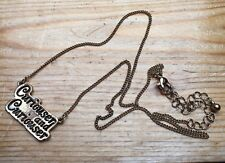 Dainty Gold Metal Alice In Wonderland Necklace/Disney/Curiouser And Curiouser