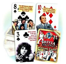 1971 Trivia Playing 52 Card Deck Nostalgia 47th Birthday / Anniversary / Reunion