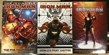 3 Invincible Iron Man TPBs V1-3 5 Nightmares, World's Most Wanted Marvel Comics
