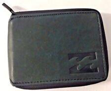 Billabong Typhoon Black Leather Zip Wallet. RRP $59.99. NWOT.