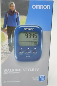 Omron Schrittzähler Walking Style IV mit Befestigungsband, OHNE Bluetooth