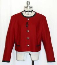 ALPHORN ~ WOOL ~ RED Women German SHORT Fitted Dress Suit Coat JACKET / 46 14 L