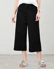 Joules Womens Compton Wide Leg Cropped Chino - TRUE BLACK