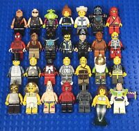 LEGO Minifigure Lot of 28 People Assorted Grab Bag Authentic Randomly Selected