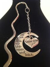 sister in law love you to the moon and back book mark