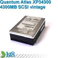 Quantum Atlas xp34300 - 4.3gb SCSI HDD + DRIVE-RAILS VINTAGE-HDD retro 486 386