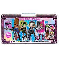 L.O.L. Surprise! O.M.G. Remix Super Surprise 70+ Surprises 4 Fashion Dolls NEW