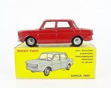 DINKY TOYS FR. N°519 SIMCA 1000, ROUGE, JANTES ALU/PNEUS DUNLOP 1966 - C9 - RARE