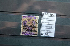 STAMPS overprint on Germany local  POLAND SIGNED USED (F101109)