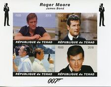 Chad 2018 MNH James Bond Roger Moore 007 4v Impf M/S Movies Film Stamps