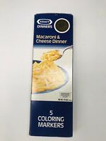 🔥 Kraft Macaroni and Cheese 50th Year Anniversary Coloring Markers & Box