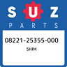 08221-25355-000 Suzuki Shim 0822125355000, New Genuine OEM Part