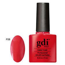 GDI Nails UK Salon 165 Colours Uv/led Soak off GEL Nail Polish OPI File F08 - Lady in Red